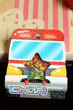 Japanese Cute Seal Flakes - Cars