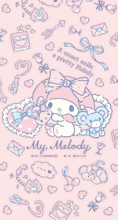 69 trendy wallpaper cartoon kawaii my melody My Melody Wallpaper, Soft Wallpaper, Sanrio Wallpaper, Kawaii Wallpaper, Trendy Wallpaper, Wallpaper Iphone Cute, Aesthetic Iphone Wallpaper, Cute Wallpapers, Tartan Wallpaper