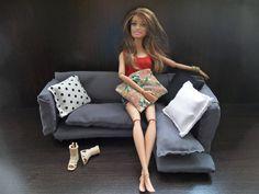 Tutorial: Como fazer sofá para boneca Barbie, Monster High etc - DIY - P...