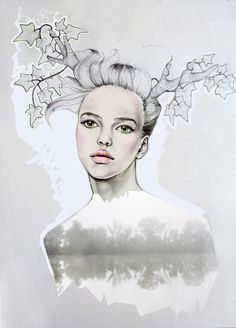 Emma Holden Misty River Fashion Illustration