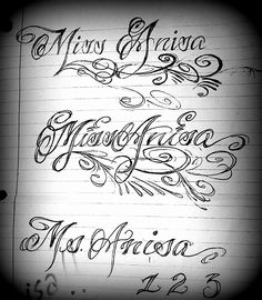 Pin fancy cursive letters for tattoos about tattoo for Fancy name tattoos