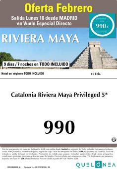 Oferta Riviera Maya desde 990€, salida 10 de Febrero desde Madrid ultimo minuto - http://zocotours.com/oferta-riviera-maya-desde-990e-salida-10-de-febrero-desde-madrid-ultimo-minuto/