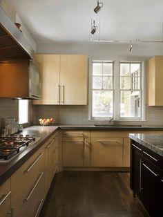 1312 contemporary birch cabinet kitchen design ideas remodel pictures houzz - Birch Kitchen Design