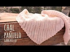 chal triangular FACIL a crochet - tutorial paso a paso, chal tejido en punto red (malla, encaje) - YouTube