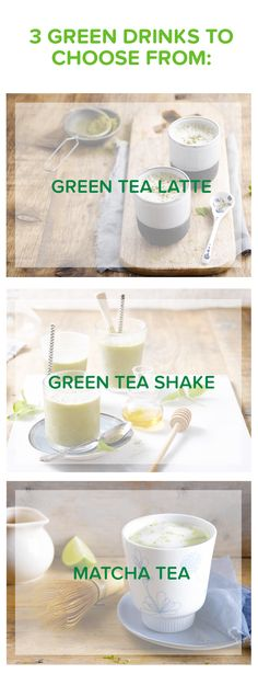 It's all in the greens today: matcha tea, green tea, green tea latte! Have it for an easy breakfast or some afternoon tea time Meal of the day: tea - breakfast