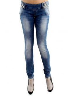 Bel Fermuarlı Pantolon