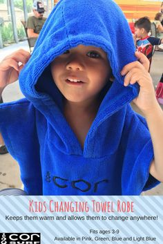 e4c82825cf The COR Surf Kids Hooded Towel Poncho. Let your kids have some privacy  while changing