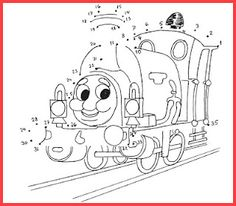 Learning Number Recognition and Sequencing with Thomas-the-Train Number Puzzle
