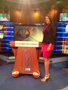 "Tall girls can wear heels! 6'3"" Tianna Hawkins in 4"" heels, drafted by the Seattle Storm"