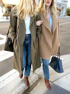 As we're sure you already know, at Who What Wear we love a good trend as much as the next fashion lover, but every year we also look forward to stocking up on classic pieces that will last us a lifetime. It's for that very reason that this stylish duo on the blog Taylr Anne caught our eye—they're both decked out in looks featuring neutral coats that are sure to be in style for many fall and winter seasons to come.