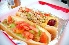 Diner food - hot dog bar