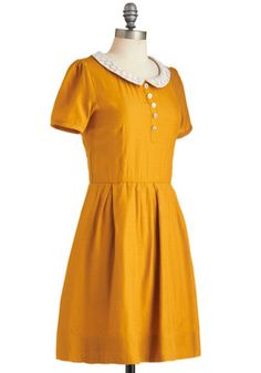 Goldenrod to Happiness Dress, #ModCloth