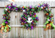 A personal favorite from my Etsy shop https://www.etsy.com/listing/526468790/jack-skellington-wreath-and-garland-set