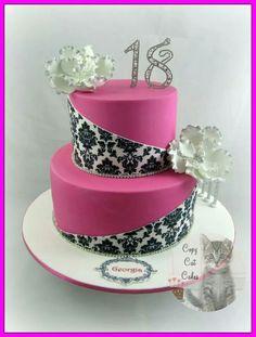 Pink, black, & white