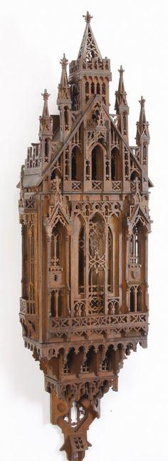 """sensational dust catcher 20th c. Gothic Revival wall décor, 59""""h   sensational dust catcher"""