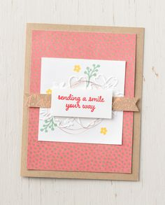 We're loving the products from the Affectionately Yours suite. #stampinup