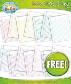 """You will receive over 14 clip art graphics that were hand drawn by myself. These blank notebook paper will be great for any homework assignment or even for quick notes. They are 8.5"""" x 11"""" which will fit perfect on standard printer paper! Files are provided in .jpg images only. (white background: .jpgs / transparent background: .pngs)If you like this listing then you will like the matching  FREE Handwriting, Grid & Notebook Page Clipart Sets!Zip-A-Dee-Doo-Dah Designs clipart is created by…"""