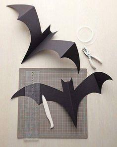 Detalles decorativos utilizando solamente un poco de papel. #hogar #decoración #halloween