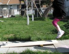 Jump Boards DIY... Gross motor activity as kids learn about force  reaction....
