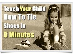 Magic fingers method of shoe tying will need this one day
