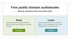 LibriVox, colección de audiolibros de dominio público leídos por voluntarios de todo el mundo. Libros en 34 idiomas