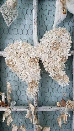 Sweet Shabby Chic Valentines Day Decoration Ideas 17