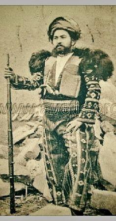 An Armenian in traditional costume, from Vaspourakan (the region around Lake Van, eastern Anatolia), ca. 1900.