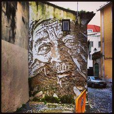 #Alfama #arte Urbana #Vhils #Padgram