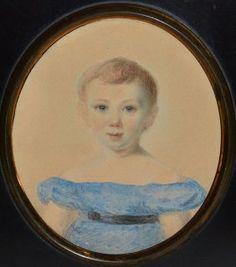 A VICTORIAN OVAL PORTRAIT MINIATURE OF A YOUNG BOY, Round Canvas, Miniature Portraits, Tiny Treasures, Renoir, Young Boys, Monet, United Kingdom, Mona Lisa, Miniatures
