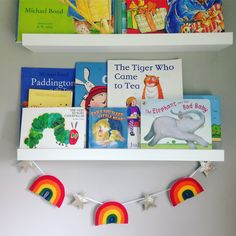 Couldn't resist hanging this rainbow and star garland in my little boy's room. So happy and colourful!