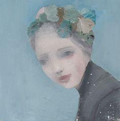 ⊰ Posing with Posies ⊱ paintings & illustrations of women & children with flowers - Kristin Vestgård