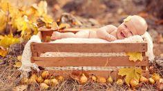 Happy Boy in Wooden Box