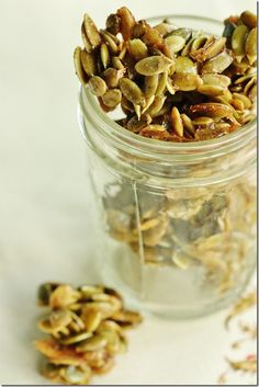 Vegan Maple Cinnamon Candied Pumpkin Seeds