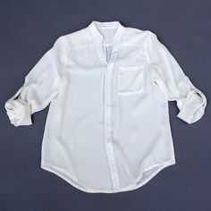 The Taylor Button Blouse White fashion, white, women's fashion tops