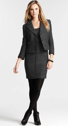 Tweed Cap Sleeve Sheath Dress & Tweed Rhodes Jacket