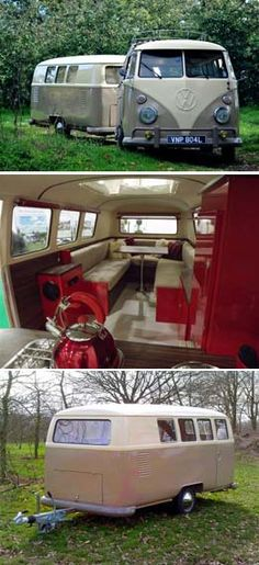 "BBC Boracay says: "" If your old VW Van can't be restored anymore this is a great idea: Kombi trailer with amazing interior..."""