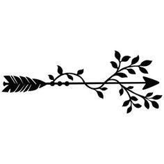 Silhouette Design Store: leafy arrow