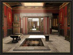 ANCIENT ROMAN ARCHITECTURE: Atrium - A central open area of the house.