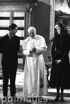 April 29, 1985: Prince Charles and Princess Diana with Pope John Paul II at the Vatican in Rome.