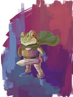 Chrono Trigger: Glenn/Frog — NoSelfRespect.deviantart.com Video Game Art, Video Games, Jrpg Games, Chrono Cross, Chrono Trigger, Super Nintendo, Best Games, Character Design, Fan Art