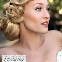 We love this Grace Kelly #bridal hair style! Hair styling by www.lbridalhair.com.au.
