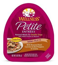 Wellness Petite Entrees Mini-Filets Grain Free Natural Roasted Beef Recipe Wet Dog Food - 3-oz, case of 12