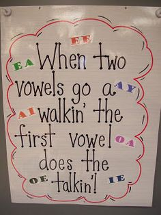 "I remember this from when I was in first grade with an add on...""and the second vowel does the walking"""