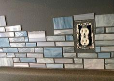 DIY stained glass mosaic backsplash - Diy Home Decor Mosaic Backsplash, Mosaic Tiles, Grey Backsplash, Beadboard Backsplash, Herringbone Backsplash, Kitchen Backsplash Peel And Stick, Mosaic Floors, Stove Backsplash, Backsplash Cheap