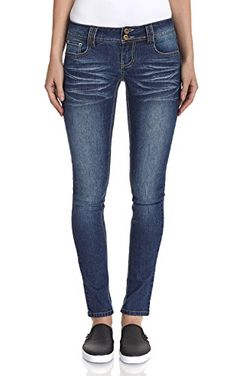 9437d13049 Angels Jeans Womens Double Button Skinny Jean in Kari Size12    Check this  awesome product. Juniors Jeans