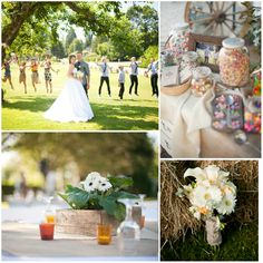 This wedding is everything you'd want your big day to be – beautiful and relaxed and filled with the spirit of joy. I love how Meggie and JR made their rustic backyard 'do' into a true reflection of their passion for life!  The first picture just shows how much fun everyone had at the
