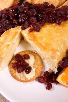 My favourite cranberry baked brie recipe went missing. So... this one'll do.