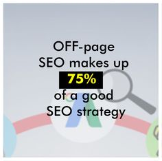 It's a common misconception that it's what's on your page that counts. However, the majority of SEO work is actually done off-page, and this type of search engine optimization comes in the form of backlinks, social media posts, directories, and a variety of other tactics.  #SEO #seotips #seomarketing #seoservices #seoproblems #seoexpert #seoconsultant #seostrategy #SEOtools #seocompany #seoagencymalad #seoservicesmumbai #SEOservicesindia #seoagency #seoagencymumbai #seoagencyandheri