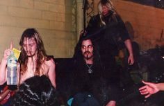 Old picture of Deicide in the glory days