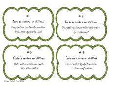 Cartes à tâches - Nombres en chiffres  Créé par Rachelle Picard (2015)